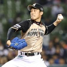 約1ヵ月ぶりの先発となる吉川光夫。今季は中盤で崩れるシーンが目立ったが今回はどうか(写真=BBM)