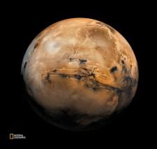火星の精細な画像。102点の画像をモザイク合成したもの。(VIKING PROJECT, USGS/NASA/National Geographic)