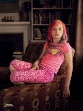 「自分が女の子に変わって一番よかったのは、男の子のふりをしなくてもよくなったってこと」 エイブリー・ジャクソン、米国 カンザスシティー(Robin Hammond/National Geographic)