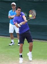 錦織 全英初日に登場、グロスとの初戦へ向け約1時間練習<男子テニス>