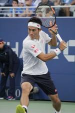 全米オープン時の錦織圭[写真:tennis365.net]