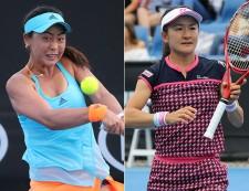 全豪オープン時の(左から)穂積絵莉と青山修子[写真:tennis365.net]