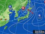 財団法人日本気象協会提供による最新の天気図 【詳細】