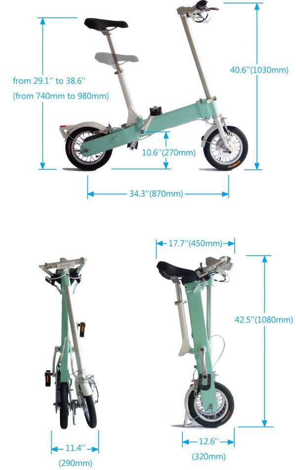シンプルな折り畳み電動アシスト自転車「CityLeo」