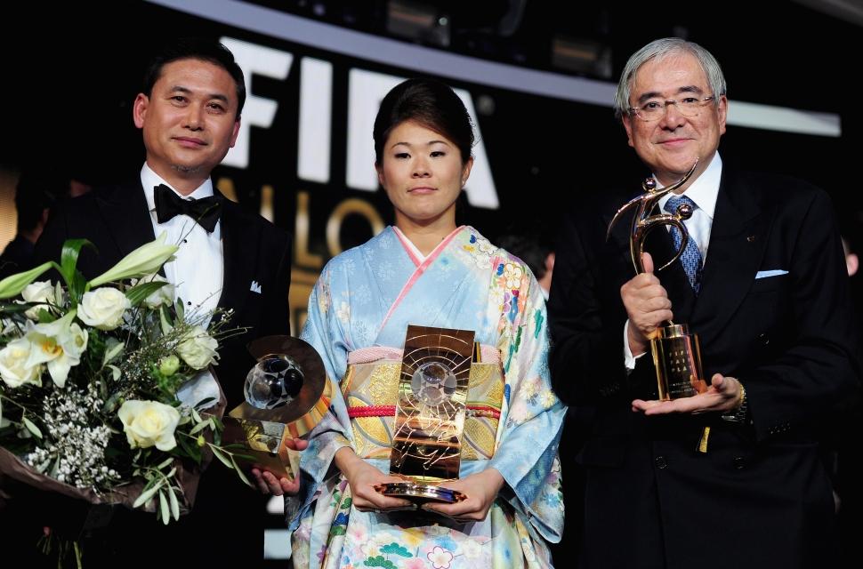 澤穂希が最優秀選手、佐々木監督は最優秀監督に 女子サッカー日本代表の澤穂希がFIFA年間最優秀