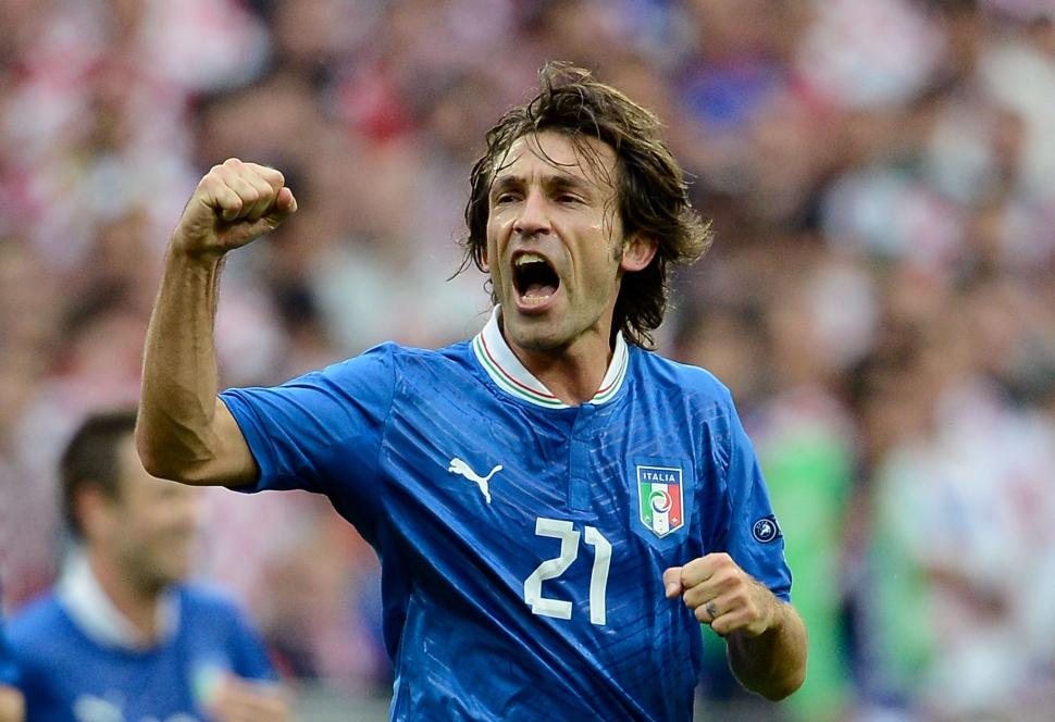 直接FKを決めたピルロ/EURO2012 EURO2012。イタリア対クロアチア。直接フリーキッ