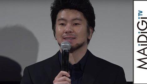 カズレーザー、黒髪&黒スーツでイメチェン?「大失敗」 海外ドラマ「LUCIFER/ルシファー」DVD発売イベント1