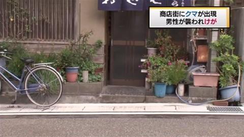 新潟・糸魚川市の商店街にクマ、男性襲われけが
