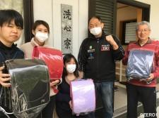 大谷晋二郎は子どもたちにランドセルをプレゼントした