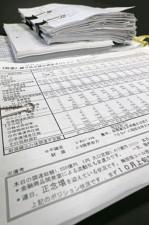 資金繰りの状況などを伝える内部文書。「連日、正念場」など、厳しい文言が見える