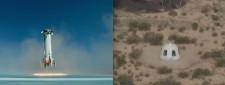 ニュー・シェパード打上げと着陸、上空エンジン点火に成功