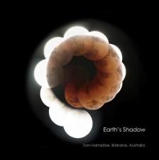 月食が描き出す地球の影