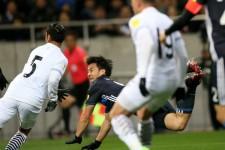 タイ戦ではゴールを決めて、存在感を示した岡崎慎司