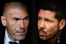 CL準決勝で対決する、レアルのジダン監督とアトレティコのシメオネ監督