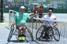 世界ランキング2位のデビッド・ワグナー(左)と1位のディラン・アルコット(右)