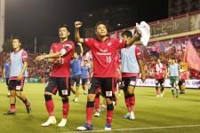 第18節、柏に逆転勝利を収めたセレッソ大阪の水沼宏太と山口蛍(左)