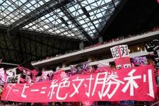吹田スタジアムで初めて行なわれたリーグ戦34回目の大阪ダービー