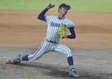 最速149キロのストレートを誇る柳ヶ浦のエース・田中瑛人