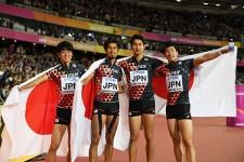リオ五輪から1年で再びメダルを手にした男子4×100mリレー