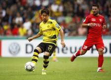 ドイツ杯1回戦リーラジンゲン戦の後半61分から出場した香川真司