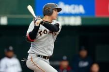 8月18日のDeNA戦で放ったプロ1号は劇的なサヨナラ本塁打となった巨人・宇佐見真吾
