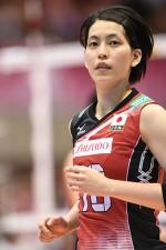 アジア選手権の優勝に大きく貢献した、セッターの冨永こよみ