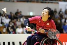 日本初開催の国際大会で、女子車いすWH2で優勝した山崎悠麻選手