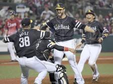 9月16日の西武戦、最後は守護神・サファテが締めて2年ぶりのリーグ優勝を果たしたソフトバンク