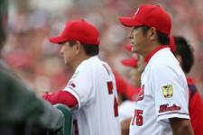 今シーズン限りで広島を退団することになった石井琢朗コーチ