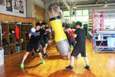 京都廣学館ボクシング部の練習風景