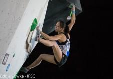 ボルダリング、リード種目を得意とする野口啓代 (c)IFSC/Eddie Fowke