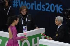 2016年の世界選手権(ボストン)にて。浅田真央は7位だった