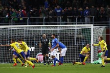 プレーオフ2戦合計0−1で予選敗退となったイタリア