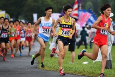 箱根駅伝の予選会で力走する東京大3年の近藤秀一