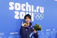 ソチ五輪では唯一の金メダルを獲得した羽生結弦