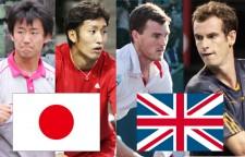 (左から)西岡/内山組とマレー兄弟[写真/tennis365.net]