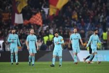 ローマに敗れたバルセロナ photo/Getty Images