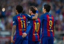 バルセロナのMSN photo/Getty Images