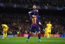 ドルトムント戦でゴールを決めたメッシ photo/Getty Images