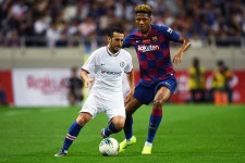 日本で行われたプレシーズンでバルセロナと対戦したペドロ photo/Getty Images