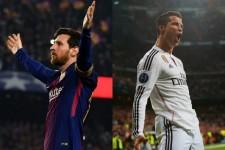 現サッカー界の二大巨塔であるメッシ(左)とC・ロナウド(右) photo/Getty Images