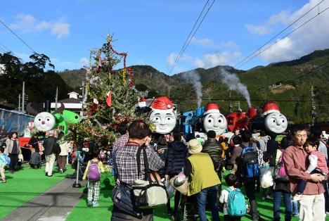 2015年クリスマス時の千頭駅でのトーマスフェア