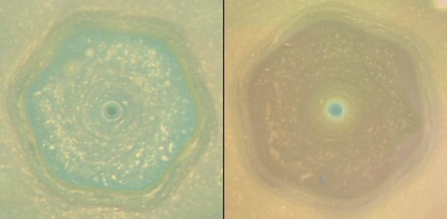 土星の北極領域