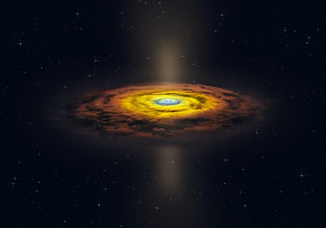 活動銀河中心核周辺の星間物質分布の想像図