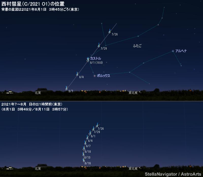 地平座標の星図