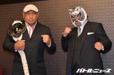無観客試合で対決する藤田和之とスーパー・タイガー