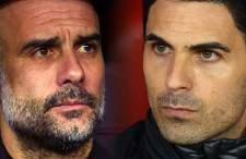 ついに指揮官として激突することとなったグアルディオラ監督(左)とアルテタ監督(右) photo/Getty Images