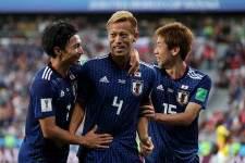 ロシアW杯でもゴールを決めた本田 photo/Getty Images