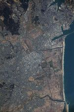 国際宇宙ステーションから見た仙台