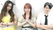 8・1崖のふち女子に参戦が決定した(左から)ARISA、松本都、せのしすたぁ・まお